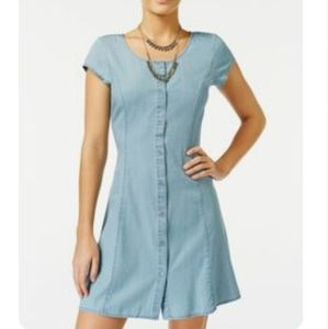 American Rag chambray button-front dress